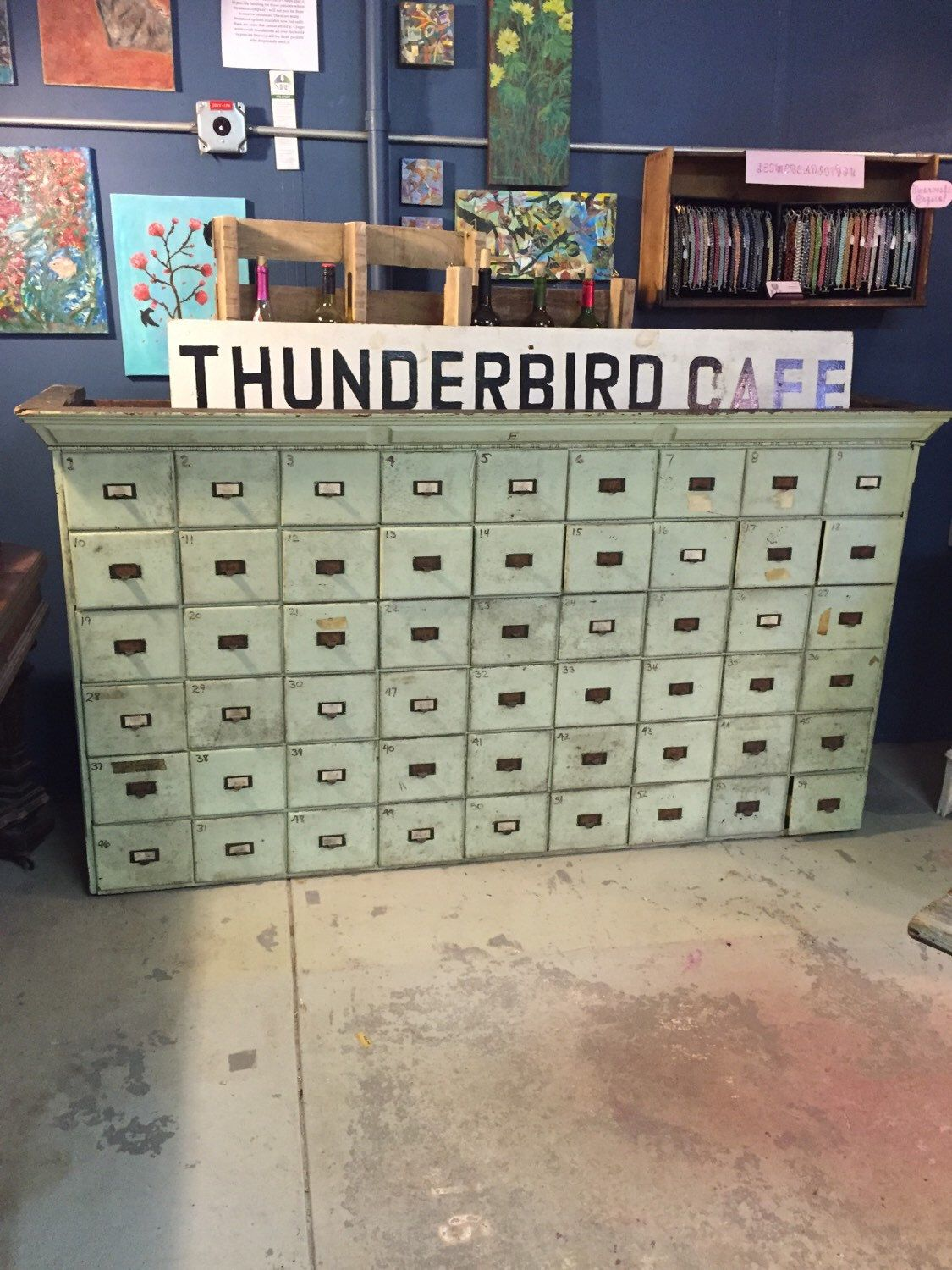 Antique industrial card catalog apothecary multi