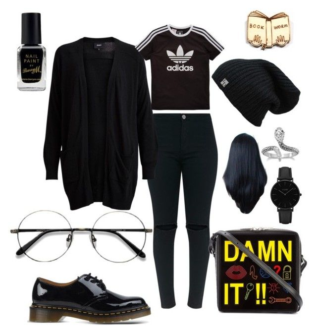 """""""Untitled #217"""" by paisley-imagentile-defriece on Polyvore featuring Object Collectors Item, adidas Originals, Dr. Martens, Yazbukey, EyeBuyDirect.com, Barry M, Kate Rowland and CLUSE"""