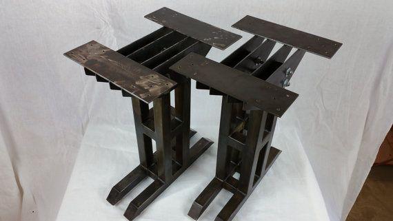 pieds de table industriel moderne de heavy duty bureau industriel pinterest pied table. Black Bedroom Furniture Sets. Home Design Ideas