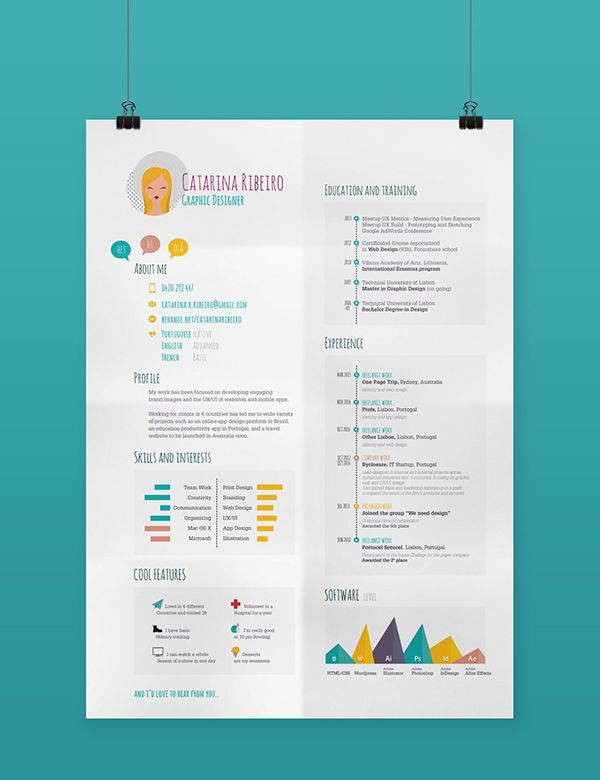 Creative Resume Cv On Behance Resume Design Creative Creative Resume Graphic Design Resume