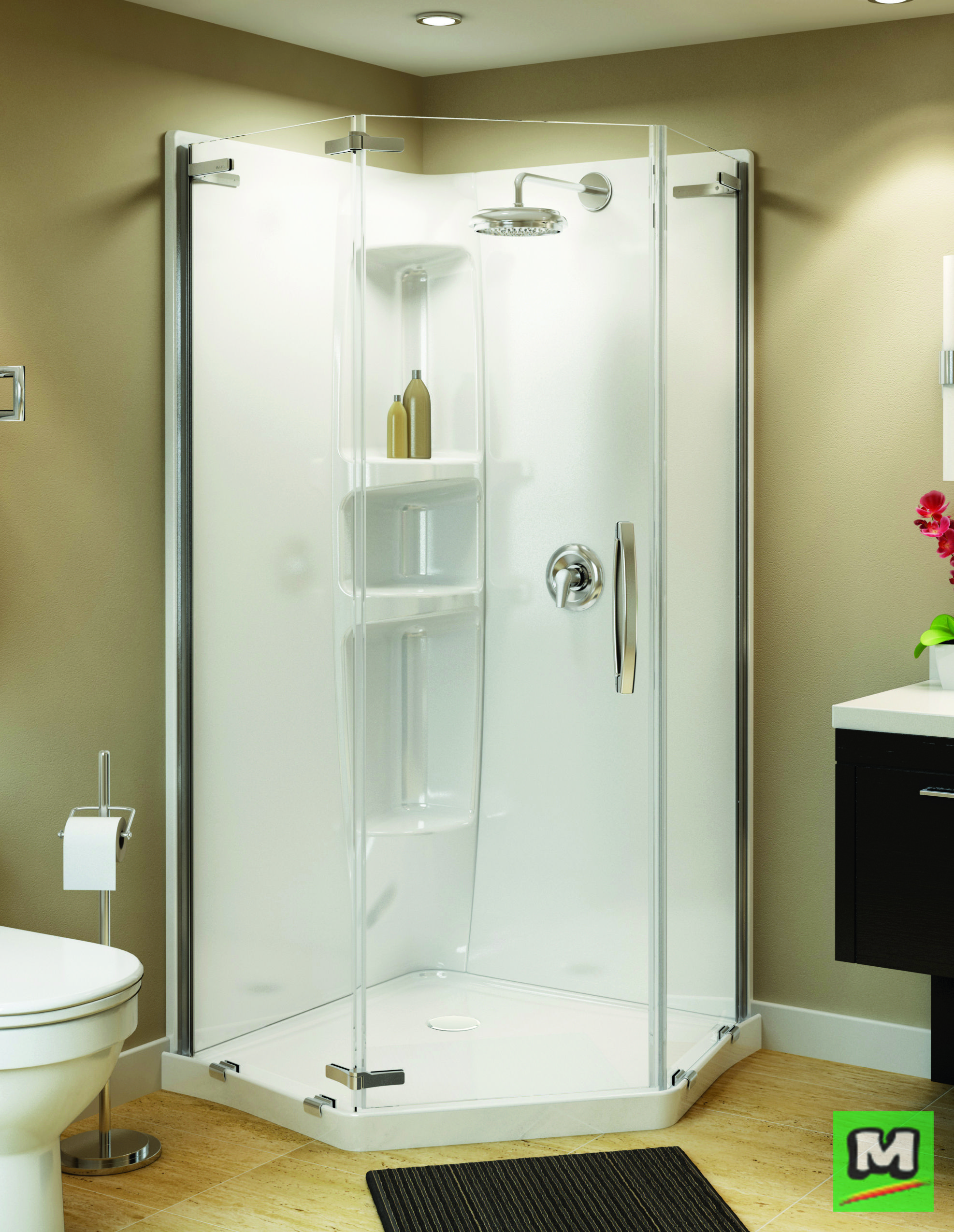 Increase the size of your small bathroom with a MAAX® Olympia Shower ...