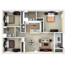 3d Apartment Floor Plans Google Search Denah Rumah Rumah