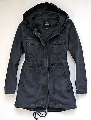 NWT Women's American Eagle AEO Hooded Long Parka Jacket Coat Navy ...