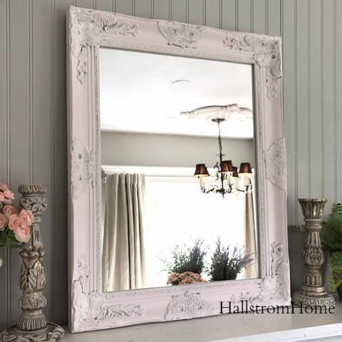 Bathroom Mirror Pink Shabby Chic HallstromHome | Bathroom Mirrors, Shabby  And Shabby Chic Furniture