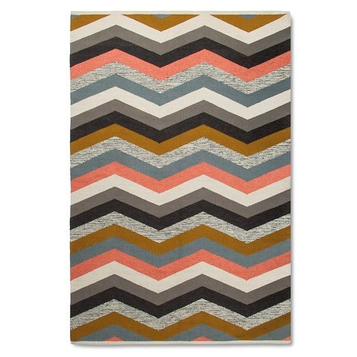Multi Chevron Stripe Area Rug Nate