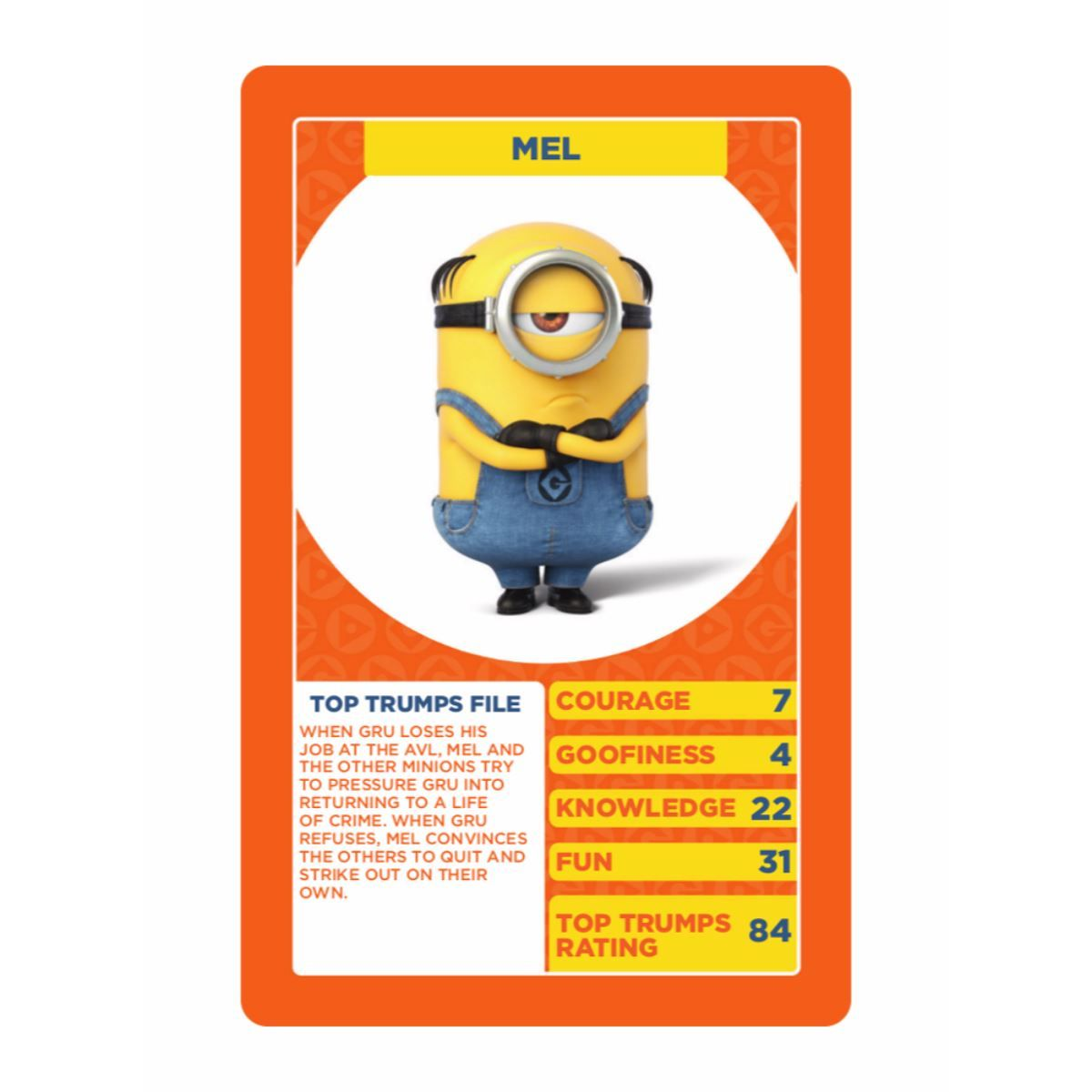 Details about despicable me 3 top trumps card game