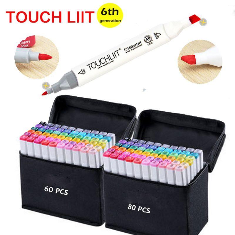 30 40 60 Marker Set Copicmarker Kunst Dual Tip Sketch Stift mit Tragetasche