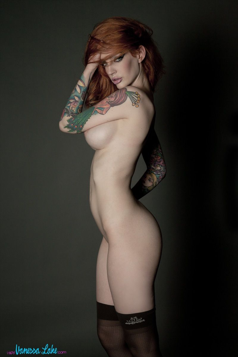 lake nude tattoo model vanessa Redhead