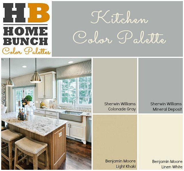 Kitchen Paint Palette: Kitchen Color Palette. Sherwin Williams Colonade Gray
