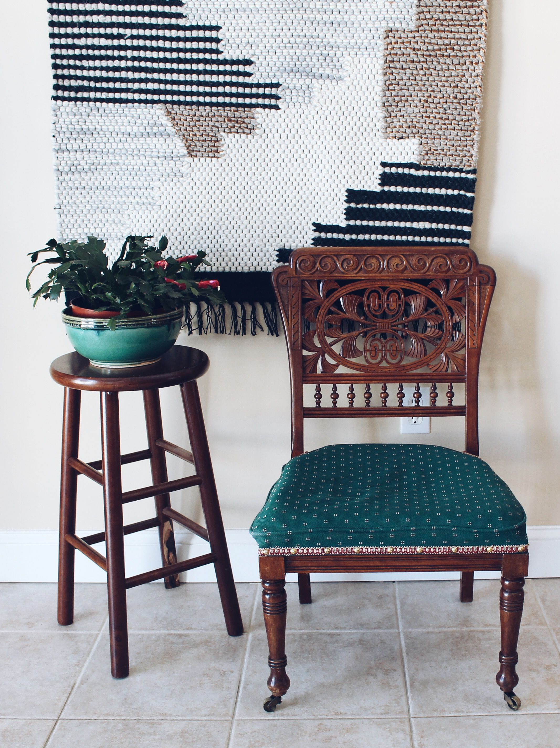 Antique birch chair victorian style accent chair