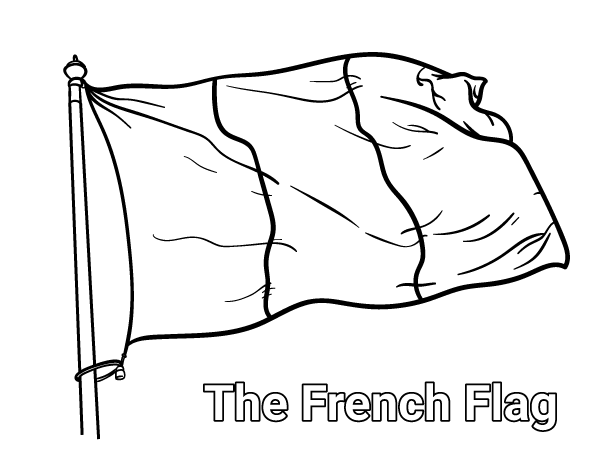 Free french flag coloring page download it at https museprintables com