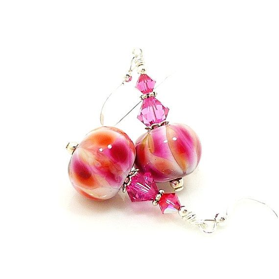 Hey, I found this really awesome Etsy listing at https://www.etsy.com/listing/192841665/pink-earrings-lampwork-earrings-glass