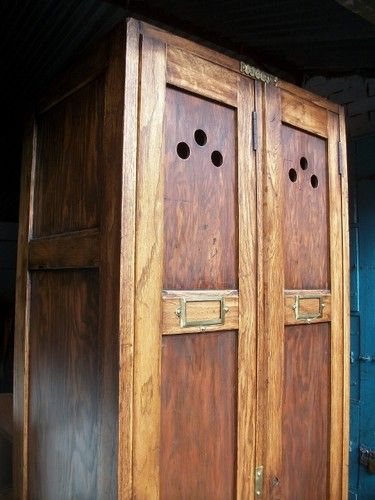 Vintage Old School Wooden Industrial Locker Hallway Coat