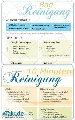 Haushaltsplan zum Putzen: kostenlose Vorlagen + Checkliste ...