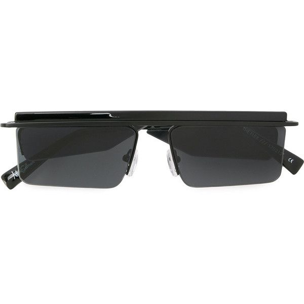 Le Specs square frame sunglasses (260 AUD) ❤ liked on Polyvore ...
