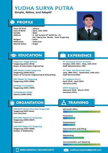 Contoh Cv Menarik Fresh Graduate : contoh, menarik, fresh, graduate, Ideas, Creative, Template,, Resume, Design, Template