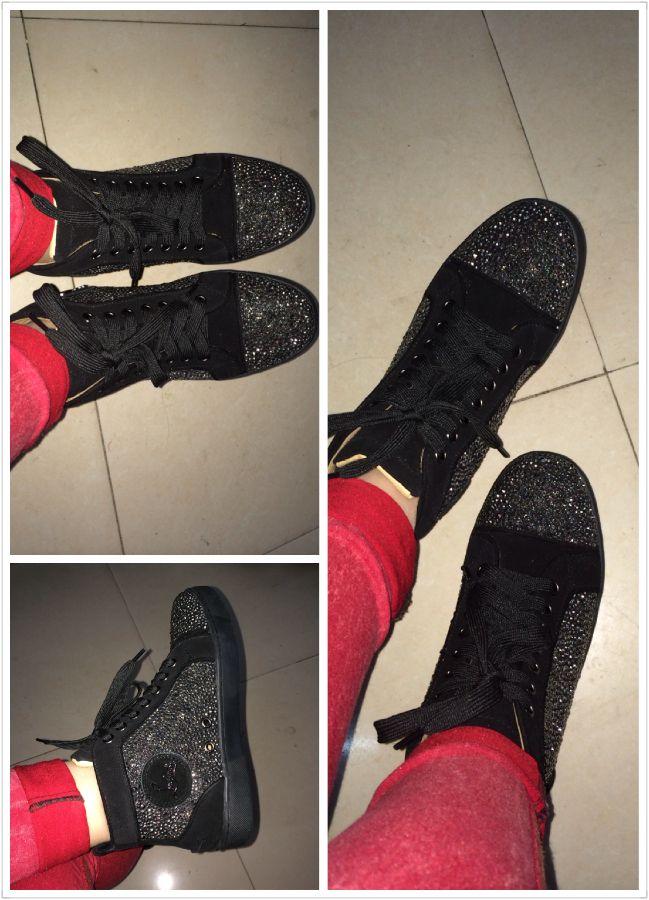 louboutin sneakers strass noir