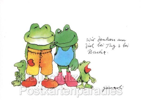 Great Janosch Postkarten Comic mit Tiger B r Frosch und Hase und nat rlich mit der ber hmten Tigerente