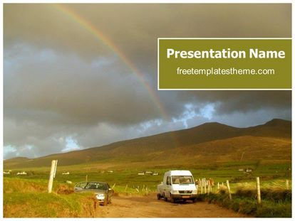 Get This Free Rainbow Powerpoint Template With Different Slides