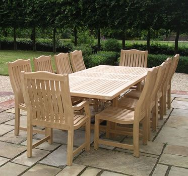 Exceptional Malvern Teak Dining Set From Posh Garden Furniture