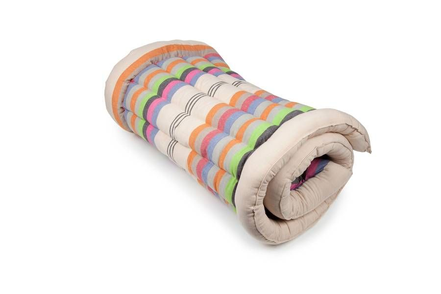 Fabulous Comfy Cotton Roll Up Single Mattress Perfect For Bringing Home Comfort To Your Bell Tent This Beautiful Woven Rollup In A Stylish