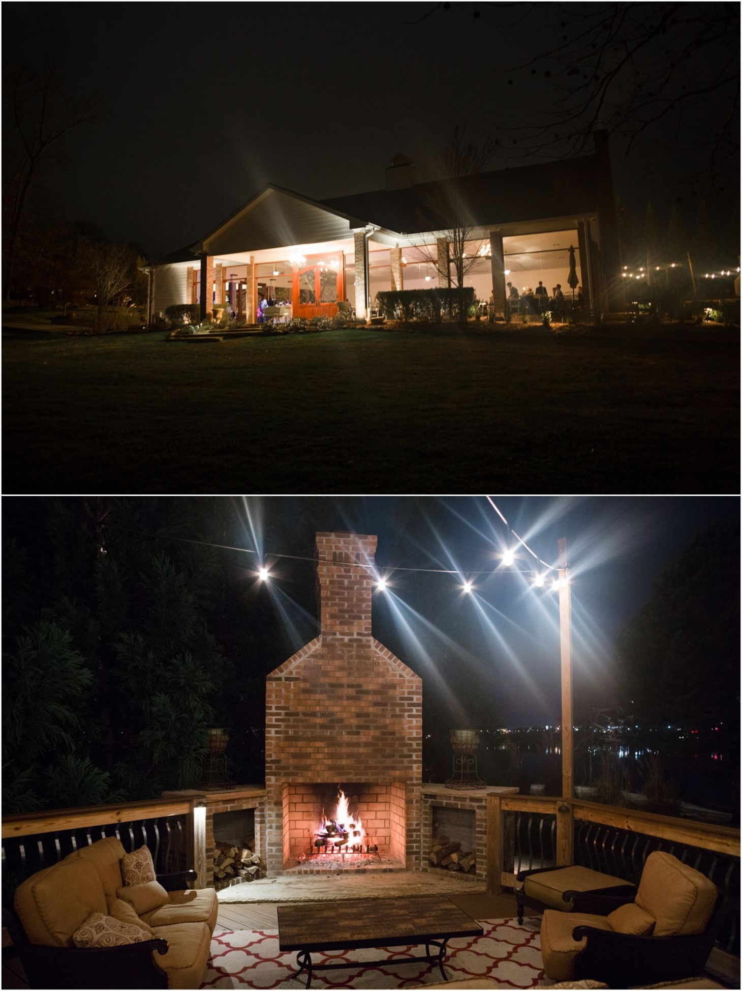 Hunter Valley Farm pavilion and outdoor fireplace in Knoxville, TN ...