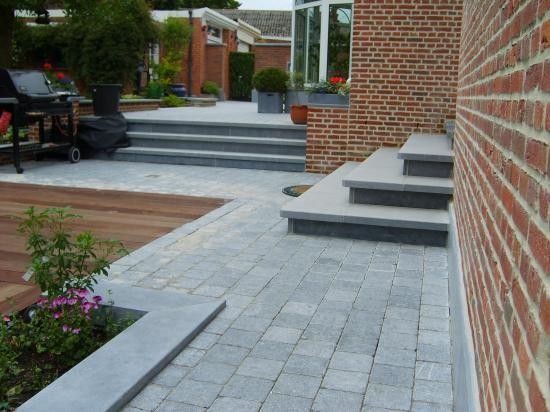Pav s pierre bleue jardin pinterest pierre bleue for Joint pierre exterieur terrasse