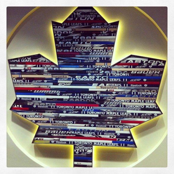Toronto Maple Leafs Hockey Stick logo man cave idea