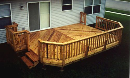14 X 18 Deck W Grill P Out At Menards