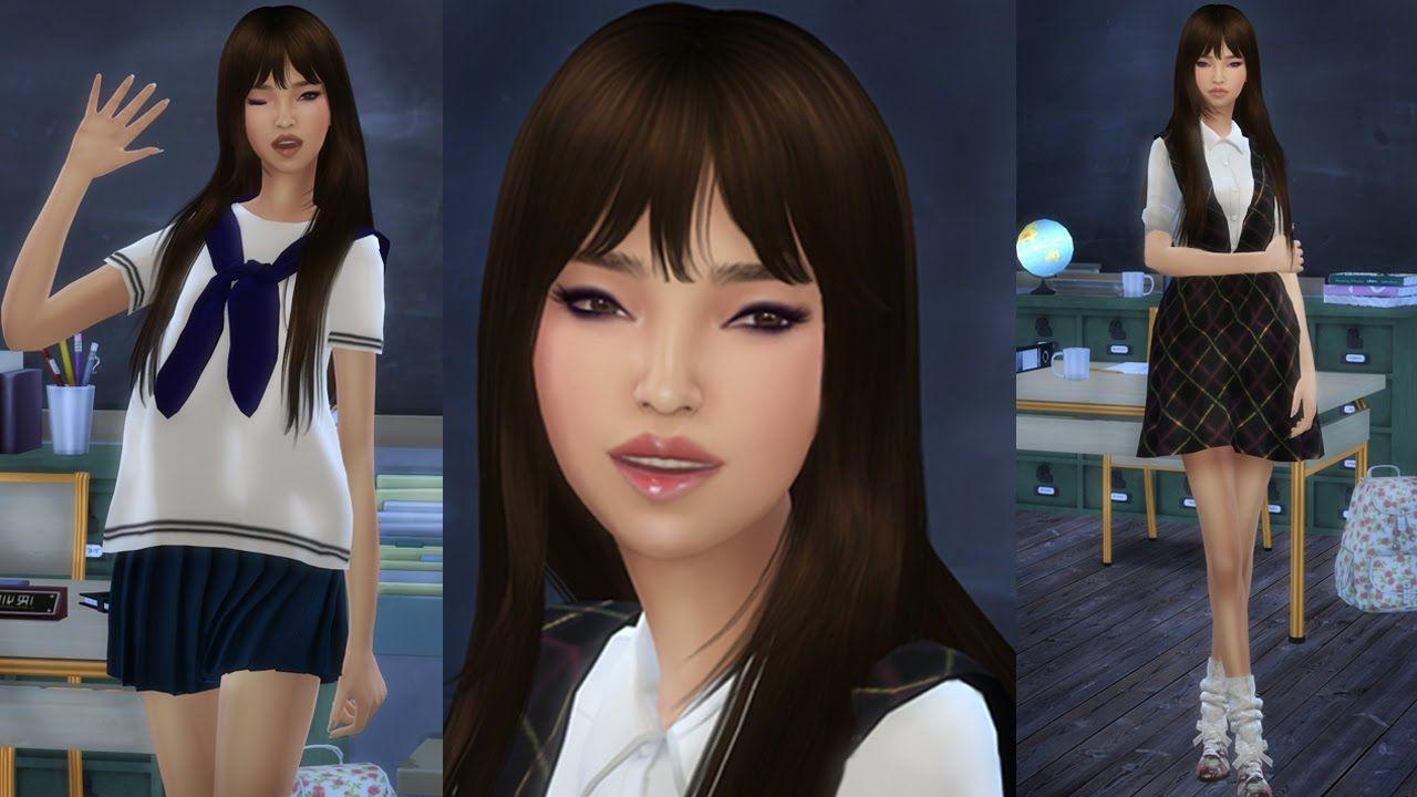 Sims 4 Korean Sim Sims 4 Custom Content Pinterest Sims