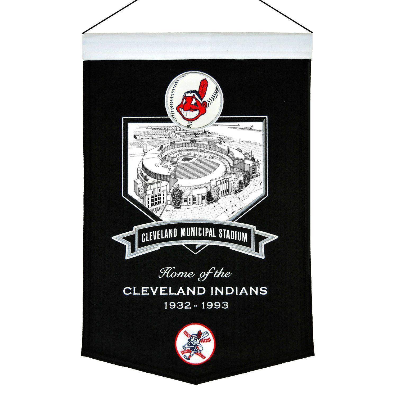 Cleveland Municipal Stadium Banner Cleveland indians