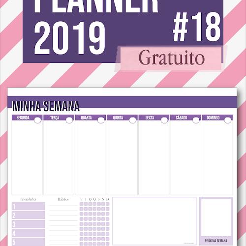 f709234b7 Planner 2019 #18: semanal de mesa (gratuito para download) | buller ...
