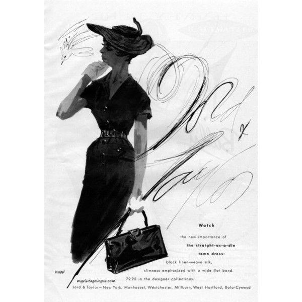 myvintagevogue | Lord & Taylor 1955 ❤ liked on Polyvore
