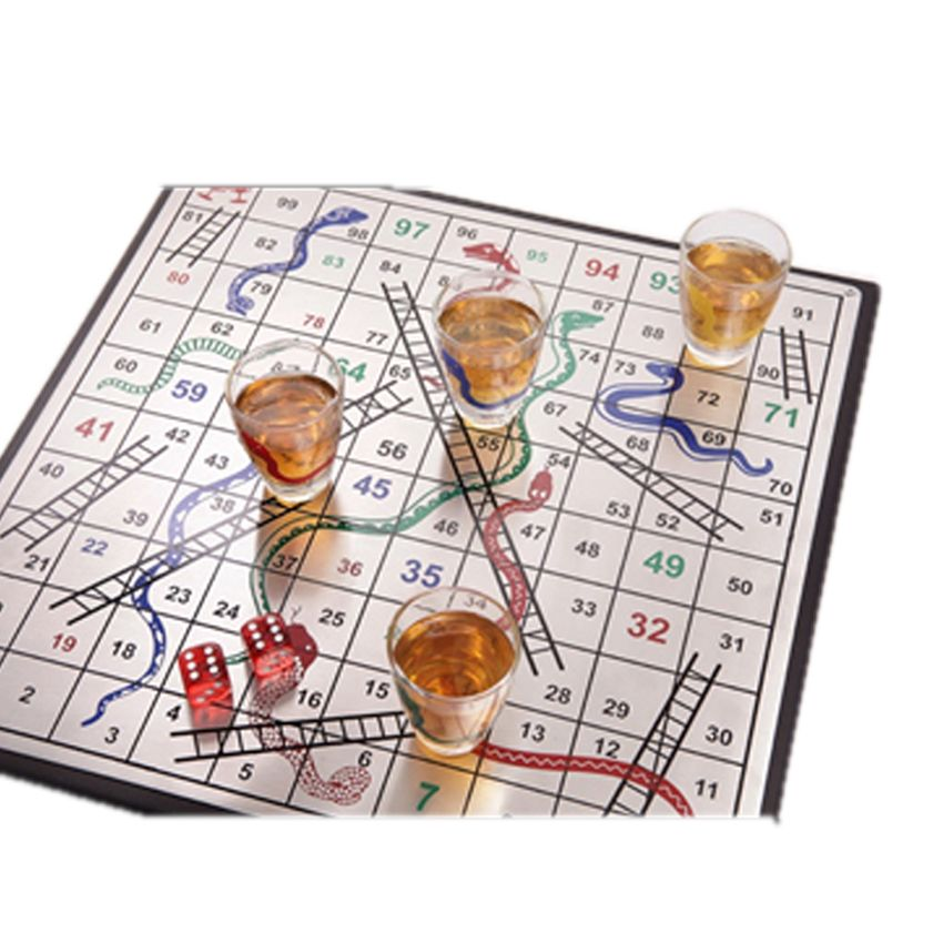 Snakes And Ladders Sb2127 71 Creatively Designed Snakes And Ladders Drinking Game Features A Set Of 4 Shot Glas Drinking Games Ladders Game Corporate Gifts