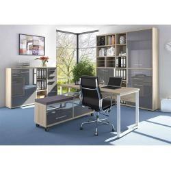 Photo of Set di mobili Maja + ripiano classificatore 191,9x40x216,4 cm rovere naturale / vetro grigio Majamaja