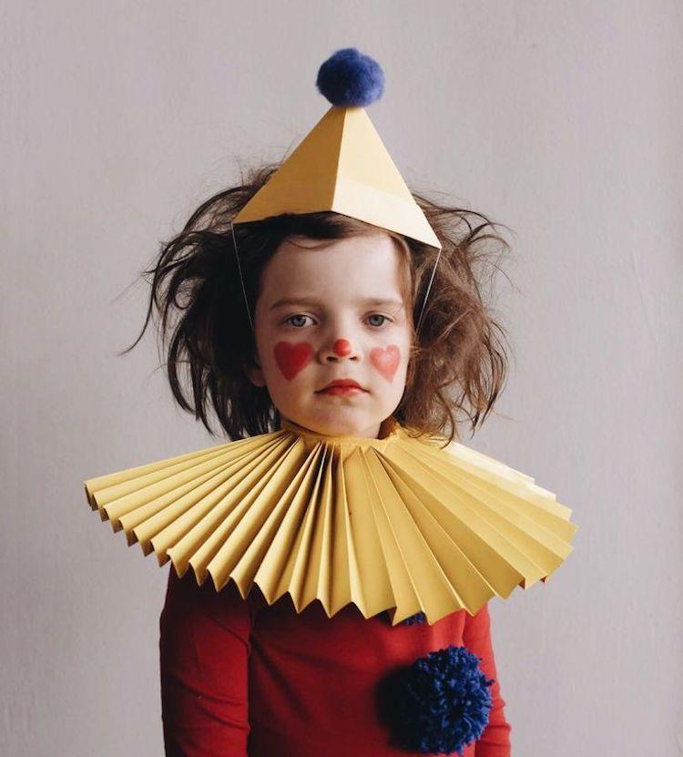 clown kinderschminken zum fasching f r kleines m dchen. Black Bedroom Furniture Sets. Home Design Ideas