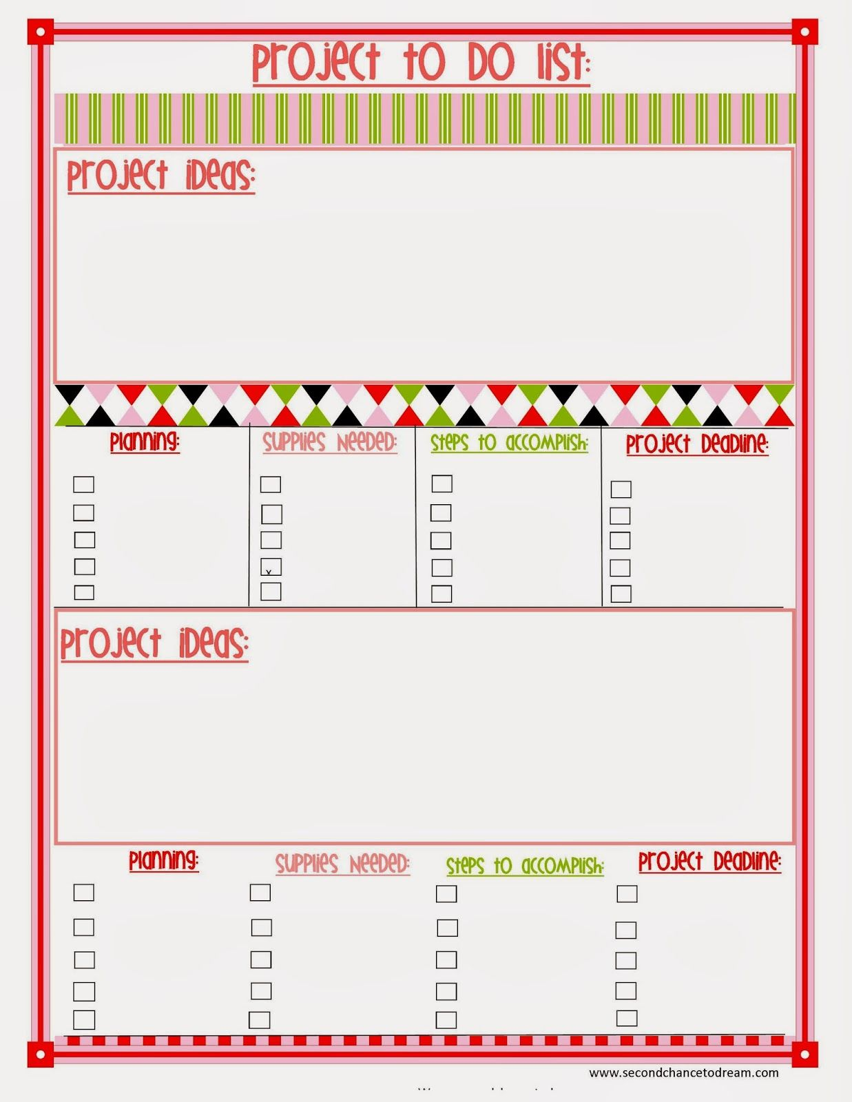 Free Printable Planner In Two Colors