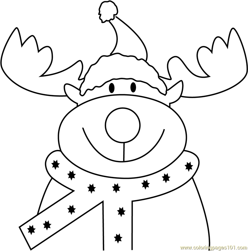 Reindeer Face Coloring Page Christmas Deer Pictures To Color Christmas Coloring Page Free C Merry Christmas Coloring Pages Deer Coloring Pages Reindeer Face