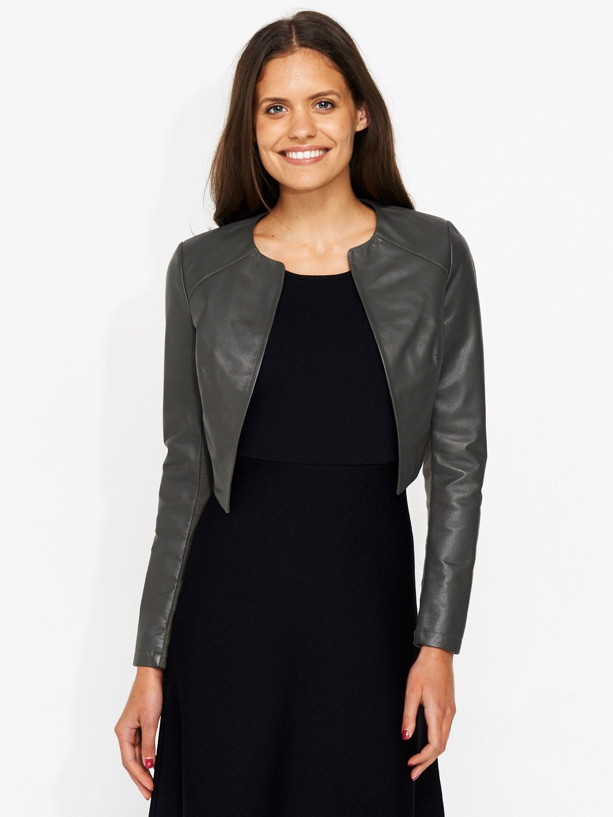 7c1920901 Image for Vanity Leather Crop Jacket from Portmans | Style ...