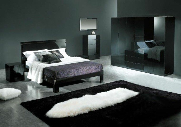 Schwarze Farbe im Schlafzimmer fantastische Dekorideen