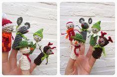 Gratis kerstvingerpopjes: en voor het garen kom je gewoon naar ons: keuze genoeg http://bloemendalwol.nl/10-garen