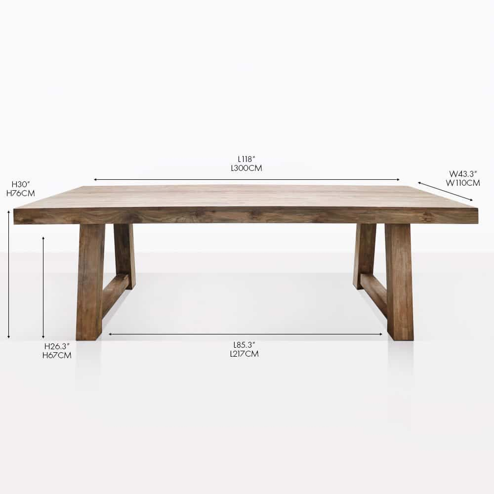 Hunter Trestle Table Straight Cm In Dining Table Dinning Table Wooden Teak Outdoor Furniture
