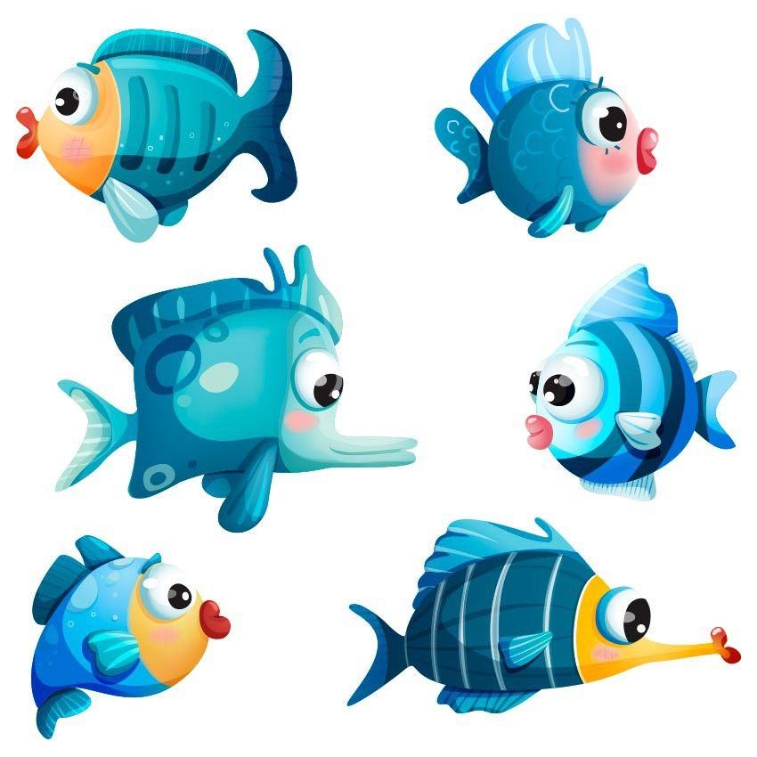Des Autocollants Sticker Enfants Autocollant bêtes bébé poisson