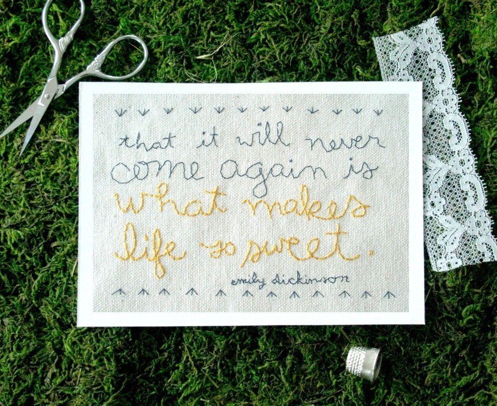 What makes life so sweet 5x7 print. $16.00, via Etsy.