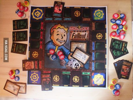 Russian dude making Fallout Monopoly by himself