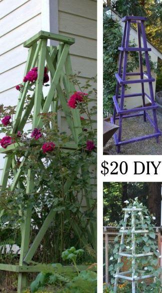 Des Treillages Pour Plantes Ou Legumes A Fabriquer Brico Jardin