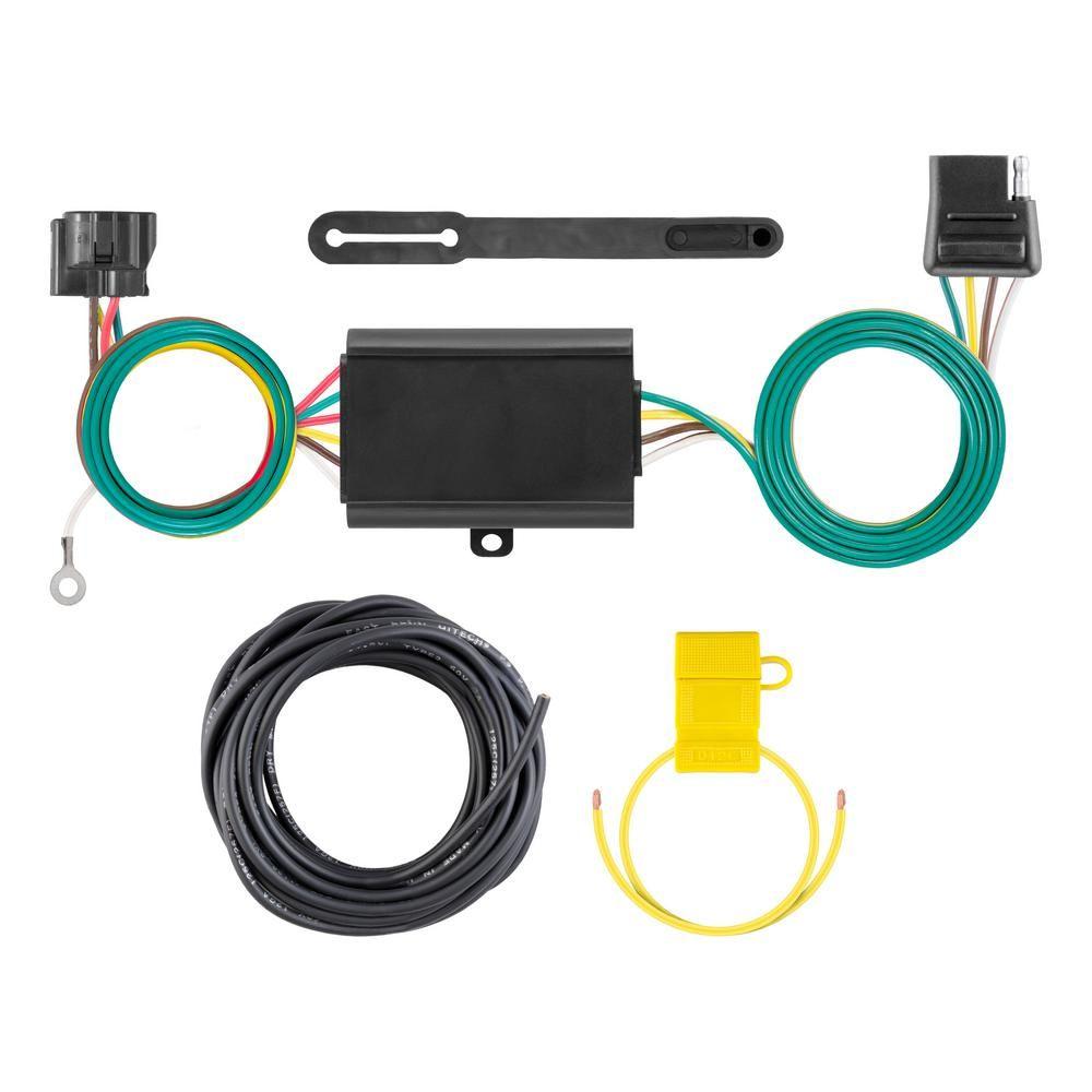 curt custom towed-vehicle rv wiring harness add-on