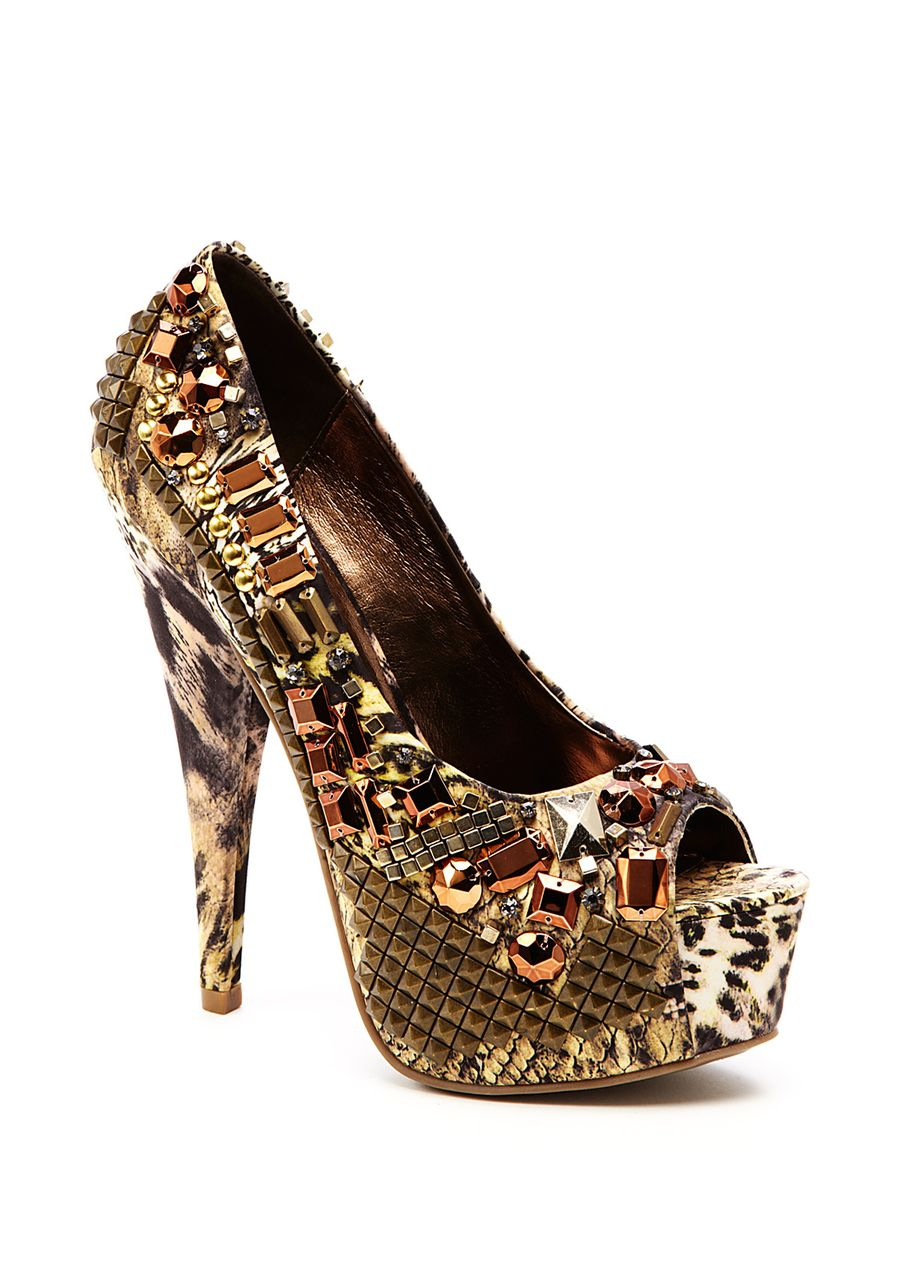 This wild shoe would pop beautifully with that LBD!