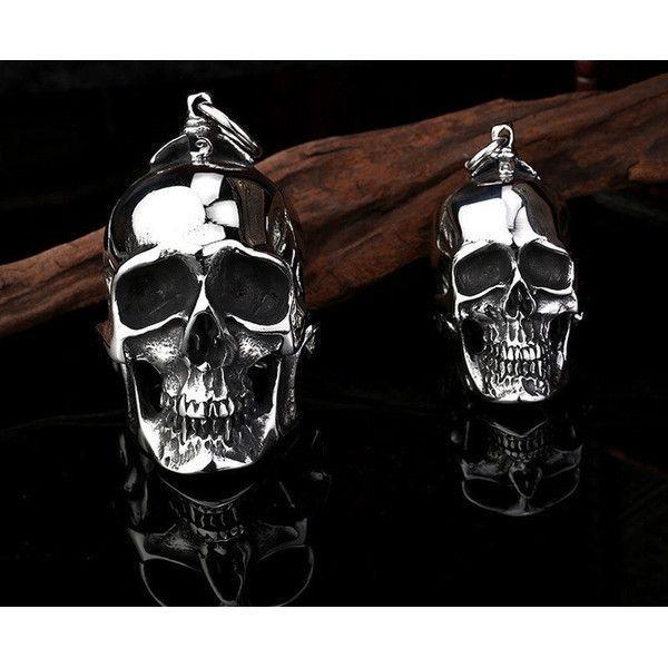 Big Stainless Steel 3D Skull