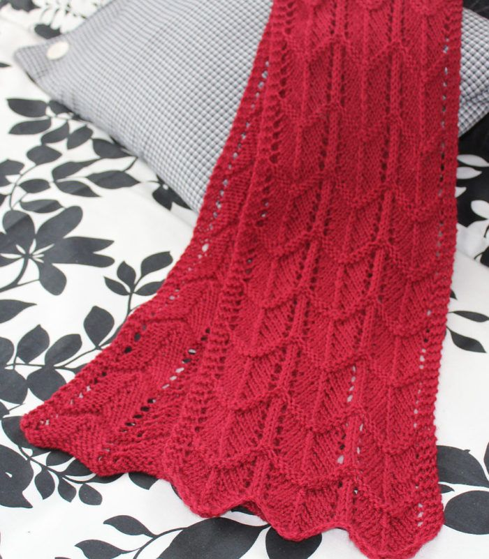 Free Knitting Pattern For Easy Pearl Barred Scallop Scarf Theres